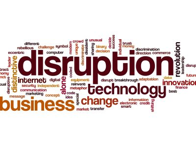 Disruption word cloud