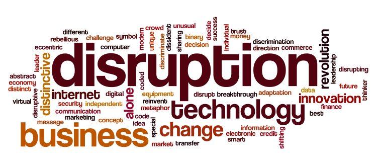 Disruption word cloud